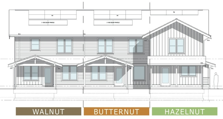 Building Elevation Plan Part - 24: Exterior Elevation Drawings Depict Homes Fully-constructed.