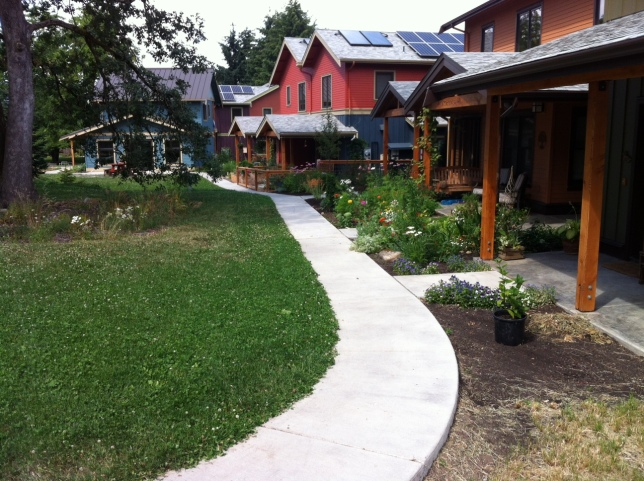 CG front yards and shady courtyard